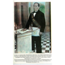 Benito Juárez con Arreos Masónicos
