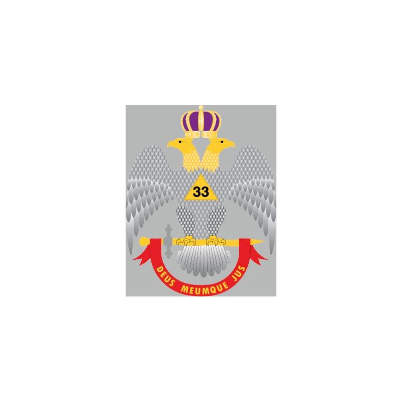 Calcomanía Águila Bicéfala (Supremo Consejo)