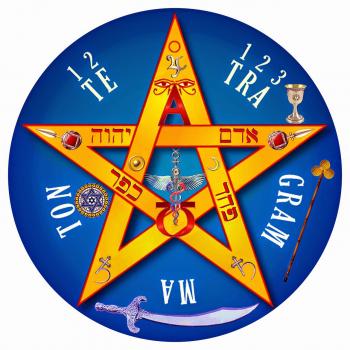 Calcomanía Tetragramatón