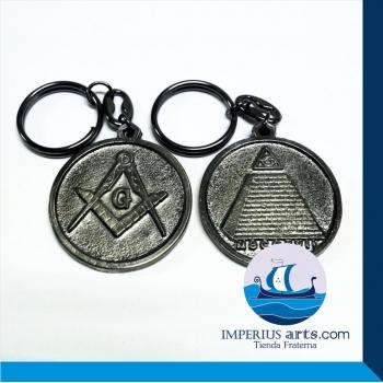 Llavero Escuadra, Compás y Pirámide