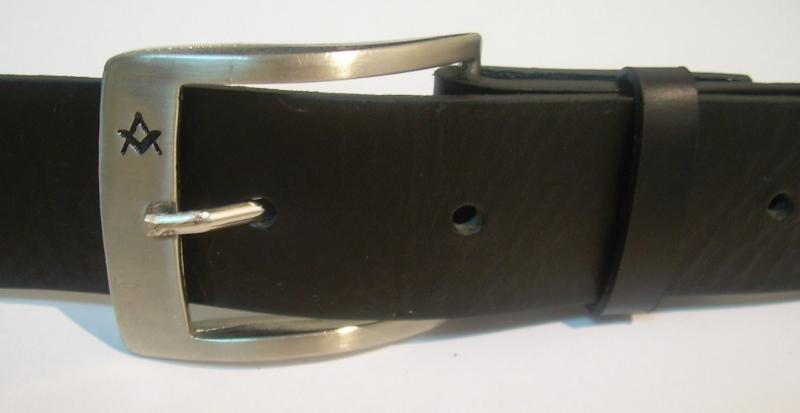 Cinturón Piel Masónico