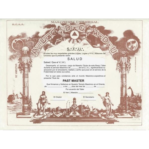Past Master Diploma
