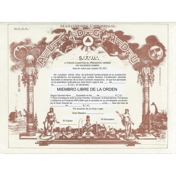 Diploma Miembro Libre