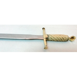 Espada Masónica Recta Hueso