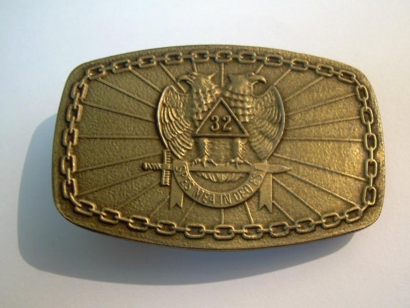 Hebilla Masónica Grado 32 (Dorado)