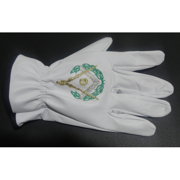 Mason Master Gloves Embroidered in leather